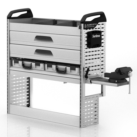 Doblò Cargo Maxi Werkstatteinrichtung rechte Fahrzeugseite